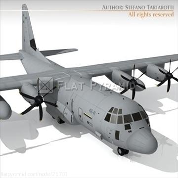 3D model of C130 Hercules hp aircraft military