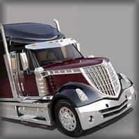 3d model of truck trailer tank international lone star car vehicle 18 wheeler tractor