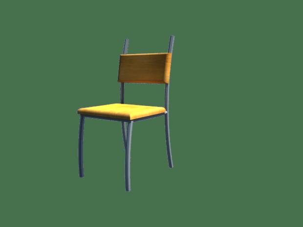 stol 3d-modell tilpasset