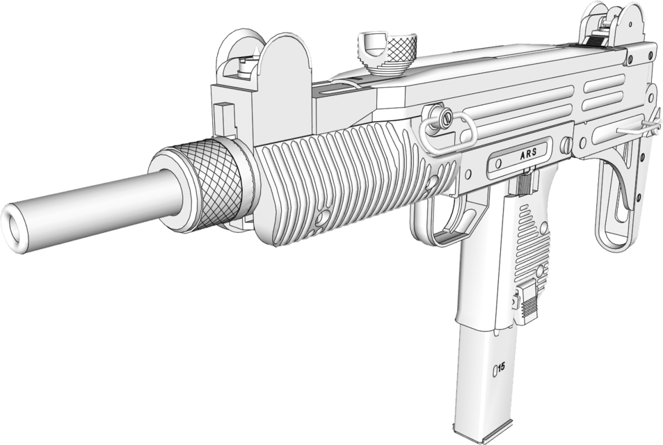 3d model of a gun custom