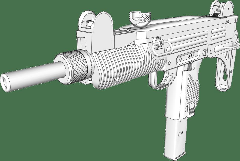 3d modell av en pistol tilpasset