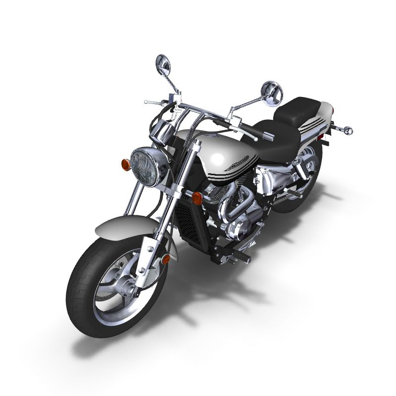 3d render of motorcycle