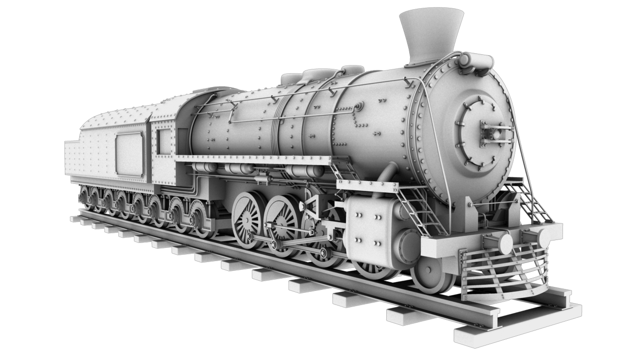 train locomotive 3d