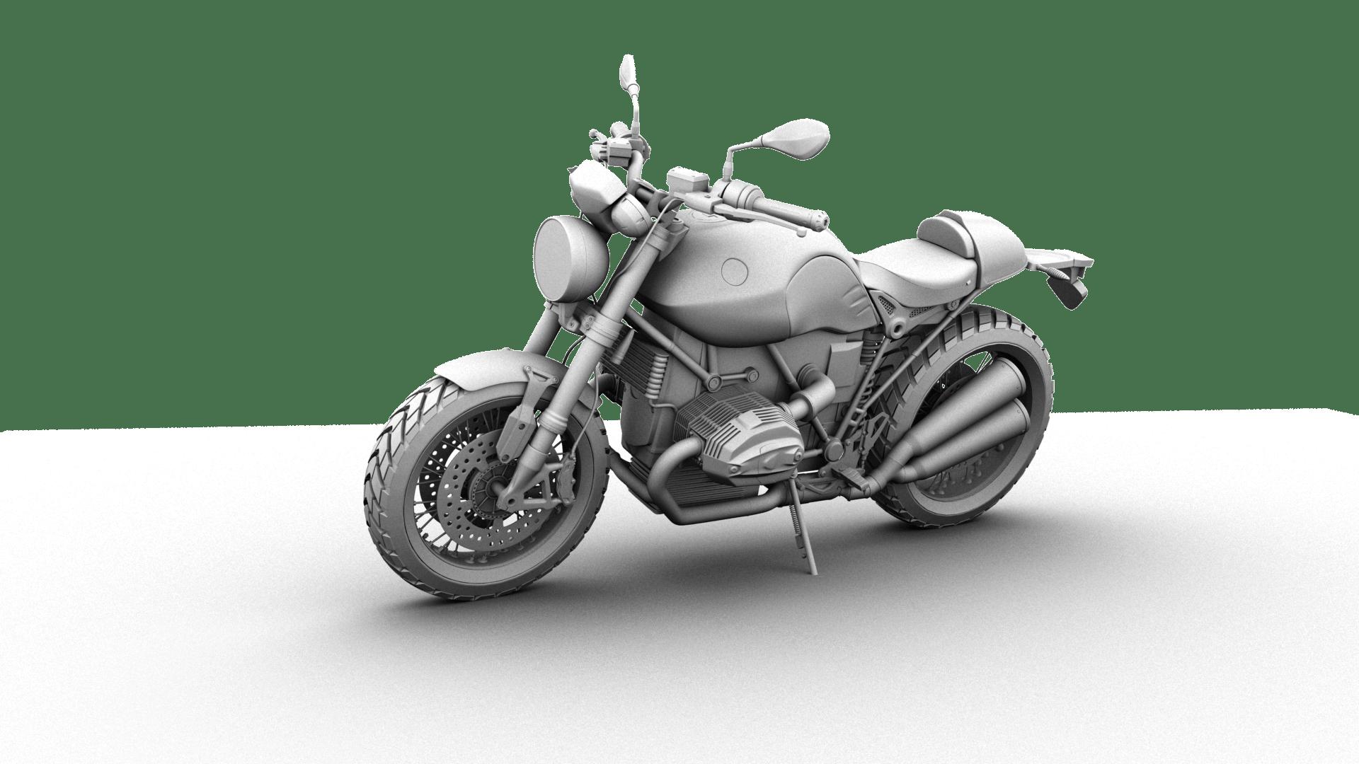 motorcykelcykel 3d