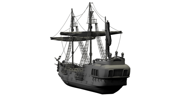 old ship custom 3d