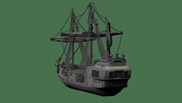 gammalt skepp anpassat 3d
