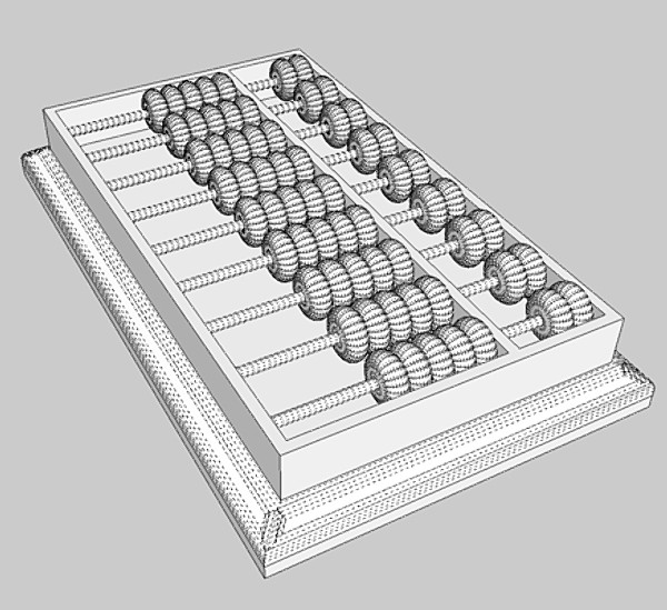 abacus 3d model 3ds fbx skp obj 115390
