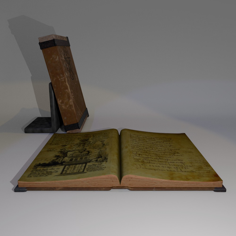 ancient hardcover book 3d model fbx blend dae obj 117690