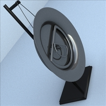 artsy clock 3d model 3ds max lwo hrc xsi obj 106281