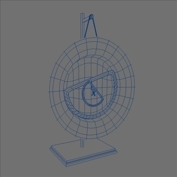 artsy clock 3d model 3ds max lwo hrc xsi obj 106283