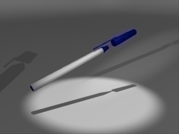 ball point pen 3d model 3ds dxf lwo 81083