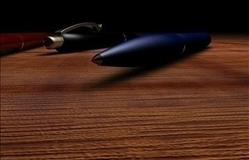 kemijske olovke 3d model 3ds c4d 103808
