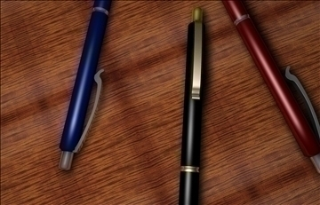 kemijske olovke 3d model 3ds c4d 103809