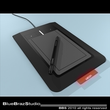 bambus pen tablet 3d model 3ds dxf c4d obj 102866