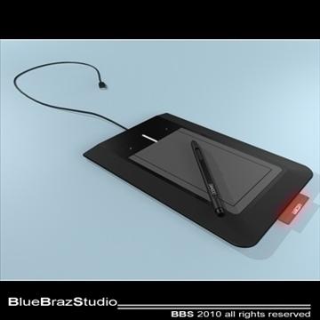bamboo pen tablet 3d model 3ds dxf c4d obj 102867