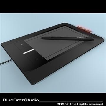 bamboo pen tablet 3d model 3ds dxf c4d obj 102868