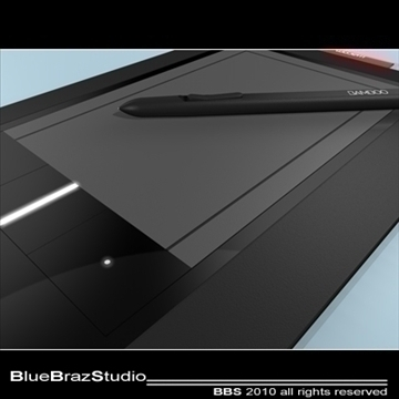 bamboo pen tablet 3d model 3ds dxf c4d obj 102869