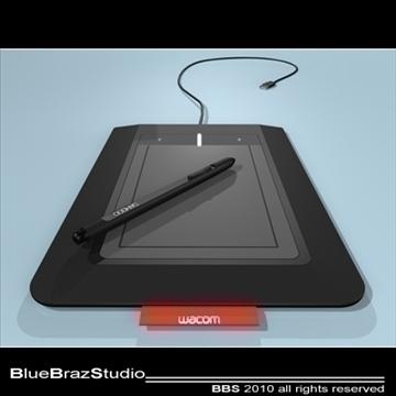 bamboo pen tablet 3d model 3ds dxf c4d obj 102870
