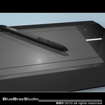 bamboo pen tablet 3d model 3ds dxf c4d obj 102871