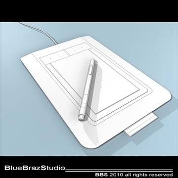 bamboo pen tablet 3d model 3ds dxf c4d obj 102872