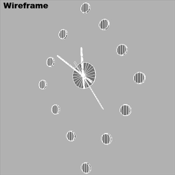 colorful clock animated 3d model ma mb 80736