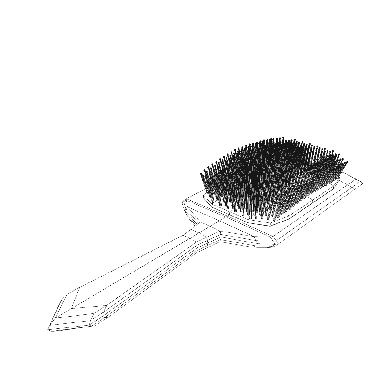 comb 3d model 3ds max fbx ma mb obj 158300