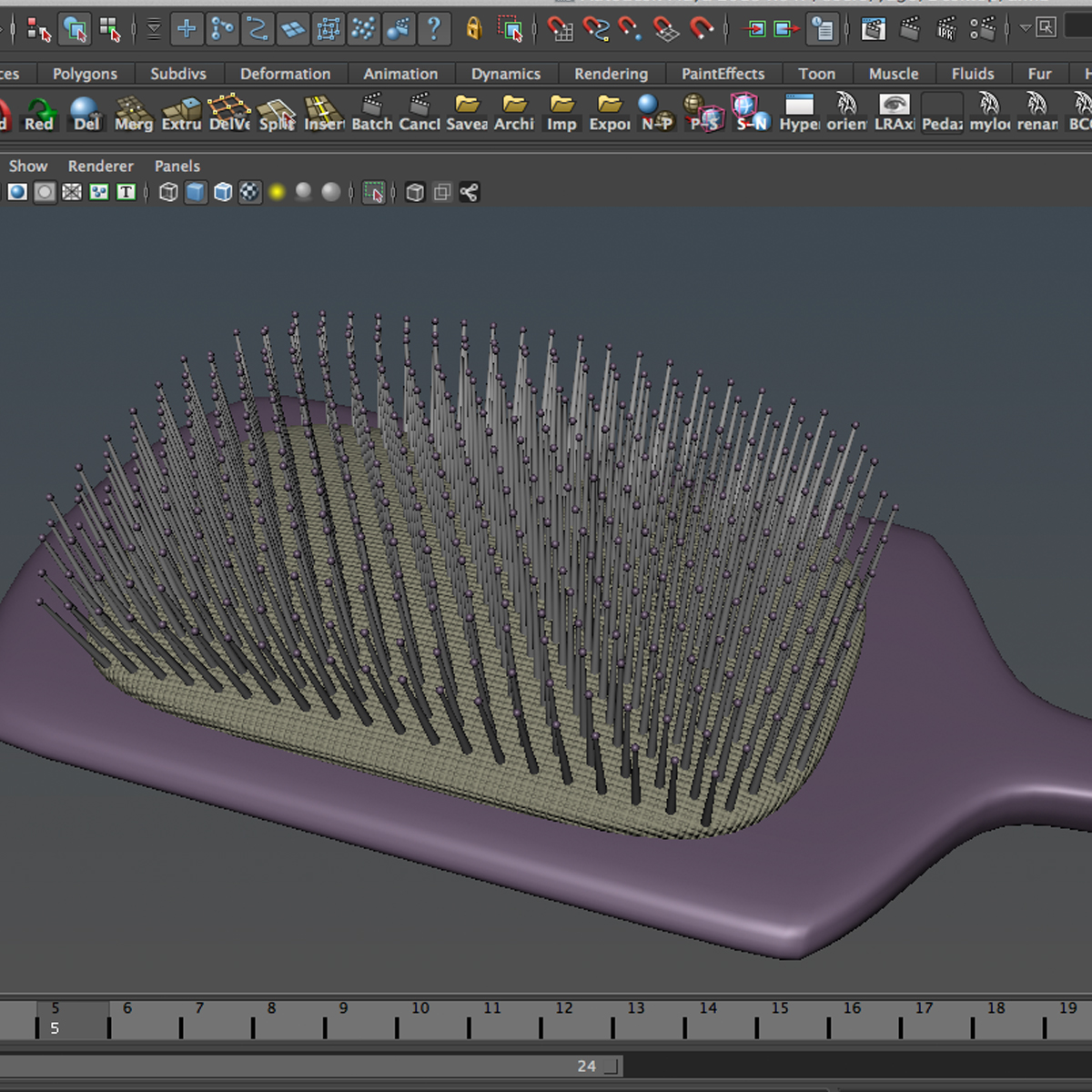 comb 3d model 3ds max fbx ma mb obj 158303