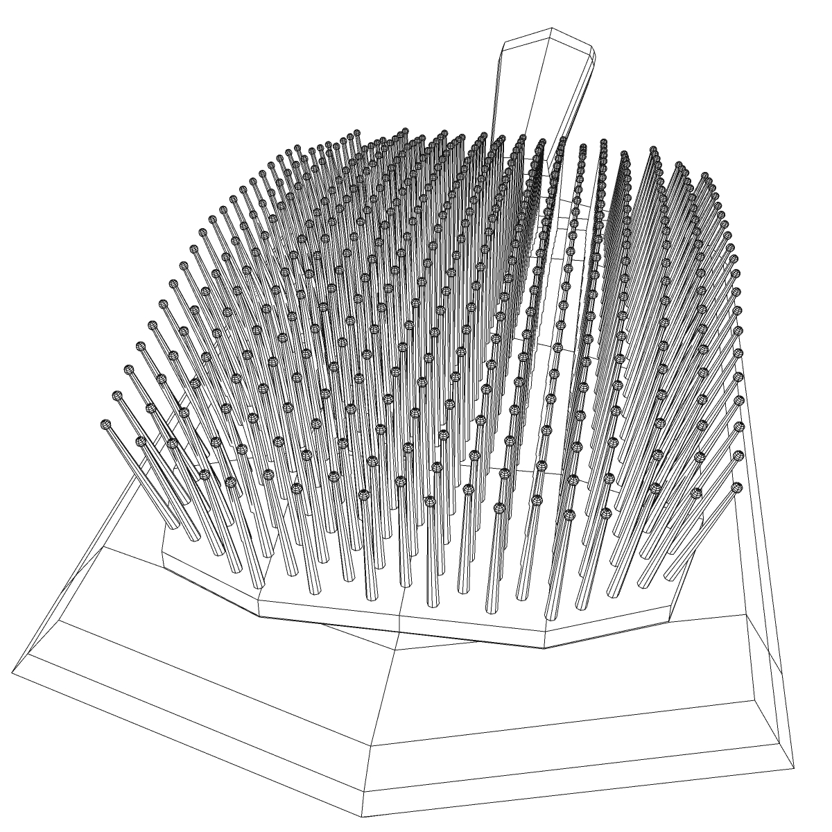 comb 3d model 3ds max fbx ma mb obj 158307