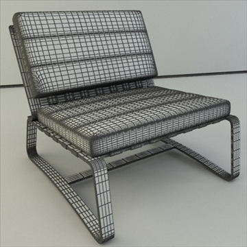 contemporary armchair from minotti 3d model 3ds max dxf lwo hrc xsi texture obj 110749