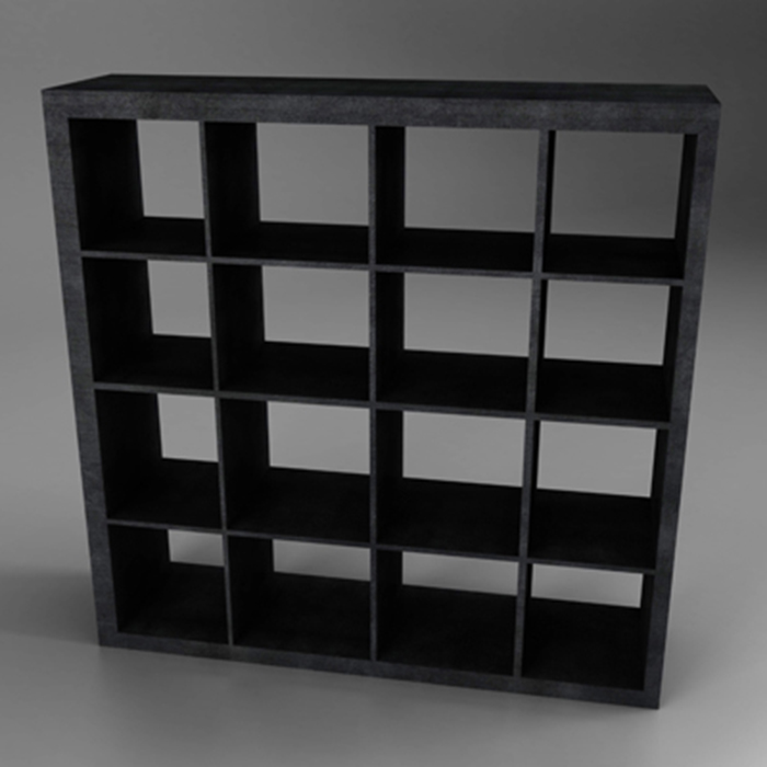 dark wood bookcase storage 3d model 3ds fbx ma mb obj 155570