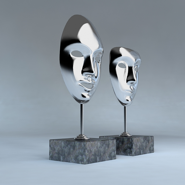 Decorative Accessories – 2 masks on stands