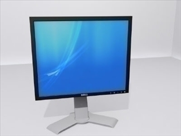 dell computer monitor 3d model 3ds max wrl wrz obj 109041