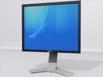 dell datora monitors 3d modelis 3ds max wrl wrz obj 109043