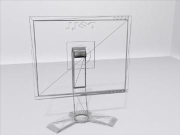 компјутерски монитор 3d модел 3ds max wrl wrz obj 109045
