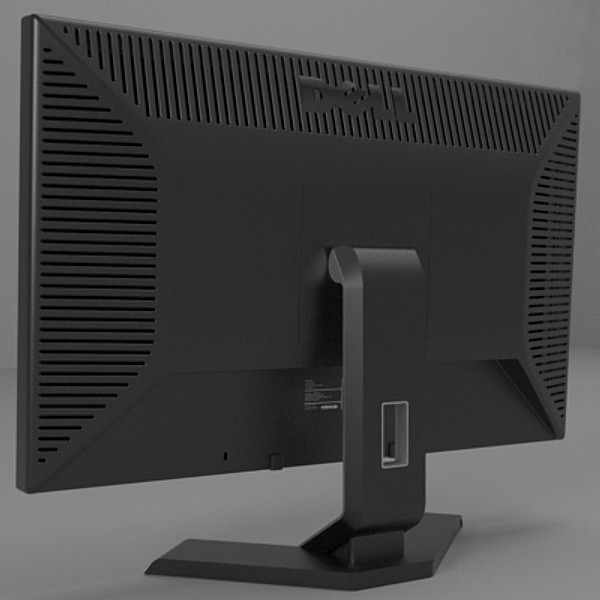 dell monitor 3d model 3ds fbx skp obj 115178