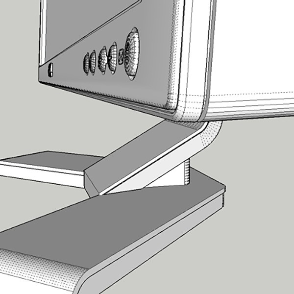 dell monitor 3d model 3ds fbx skp obj 115183