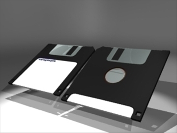 diskette 3d model 3ds dxf lwo 81106
