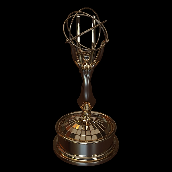 emmy award trophy 3d model 3ds max fbx obj 124124