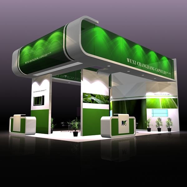 exhibit booth design 019 3d model 3ds max dxf dwg fbx c4d ma mb hrc xsi texture obj 118492