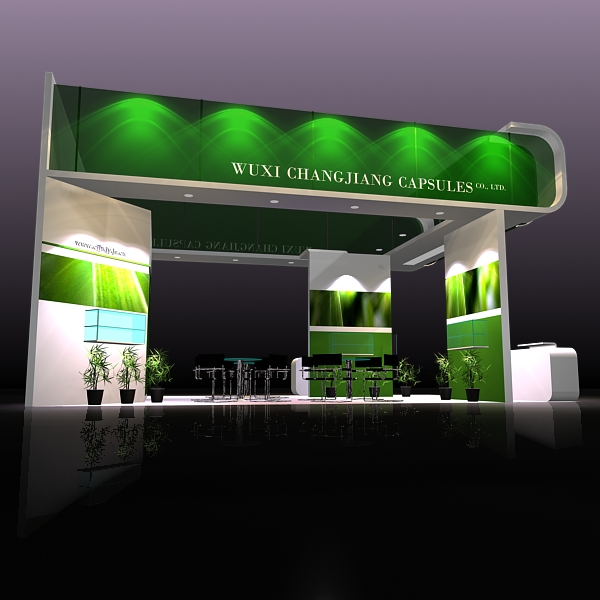 exhibit booth design 019 3d model 3ds max dxf dwg fbx c4d ma mb hrc xsi texture obj 118493