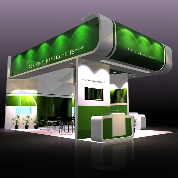 Exhibition Booth Obj : Exhibit booth design 019 3d model