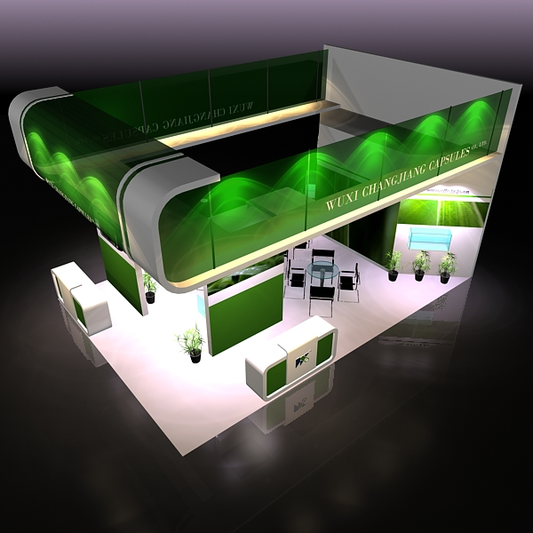 exhibit booth design 019 3d model 3ds max dxf dwg fbx c4d ma mb hrc xsi texture obj 118495