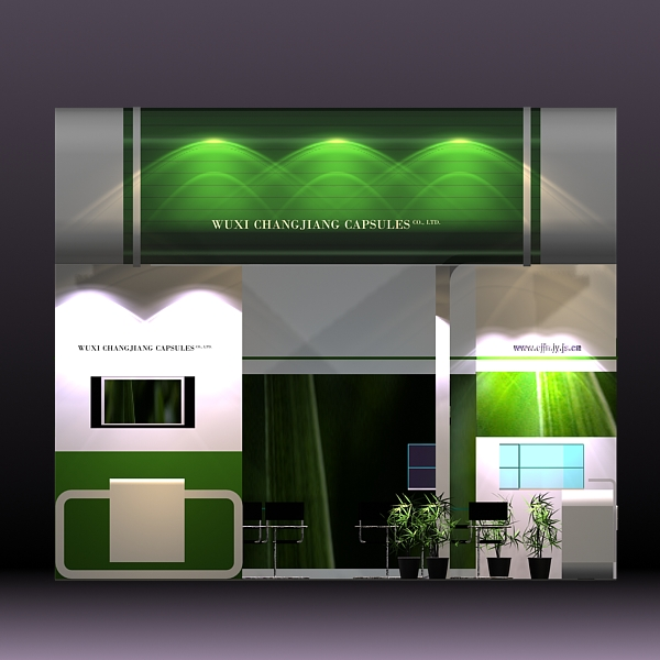 exhibit booth design 019 3d model 3ds max dxf dwg fbx c4d ma mb hrc xsi texture obj 118496