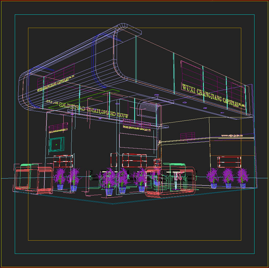 exhibit booth design 019 3d model 3ds max dxf dwg fbx c4d ma mb hrc xsi texture obj 118498