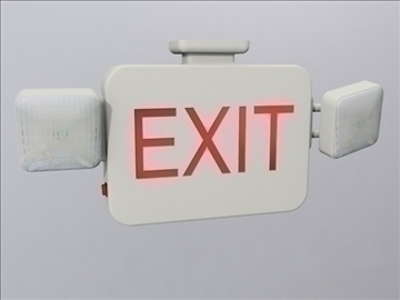 exit sign 3d model 3ds max wrl wrz obj 109054