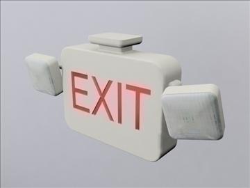 exit sign 3d model 3ds max wrl wrz obj 109056