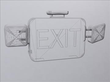 exit sign 3d model 3ds max wrl wrz obj 109057