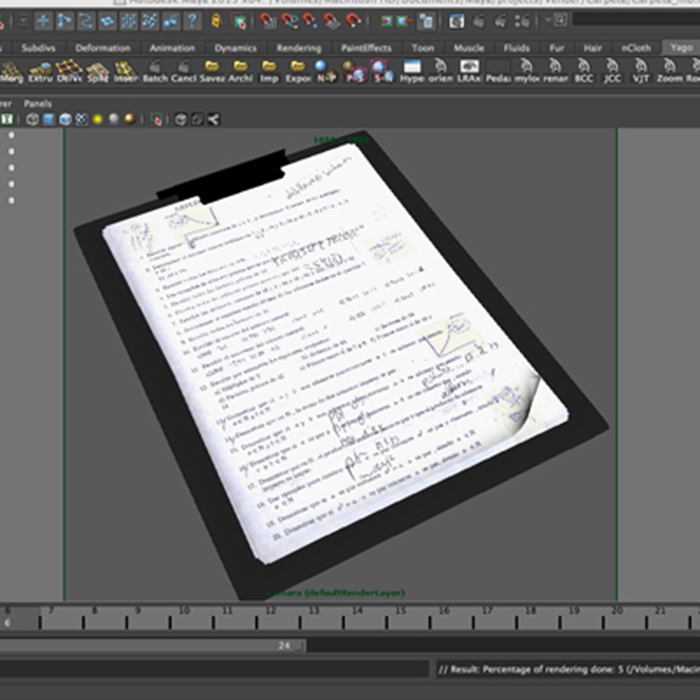 folder note 3d model 3ds max fbx ma mb obj 155931