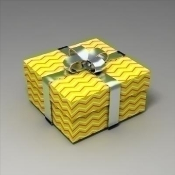 gift box 02 3d model 3ds max fbx obj 103575