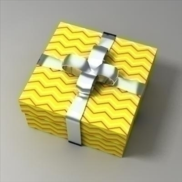 gift box 02 3d model 3ds max fbx obj 103579